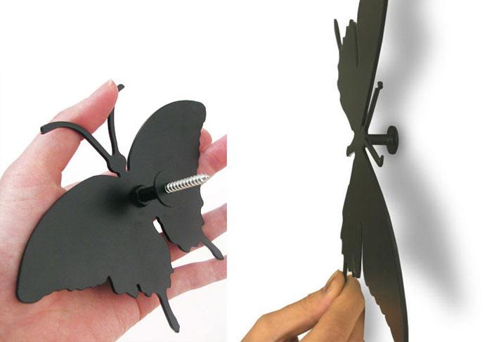 На стену чтобы закрепить бабочки на