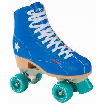 Роликовые коньки hudora rollschuh roller disco gr. 35, blau/grn  (13191)