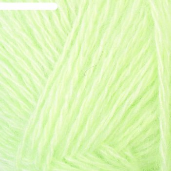 Пряжа нежность 60% акрил, 40% козий пух 230м/100гр  (лайм)