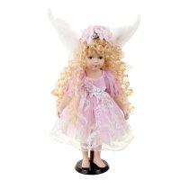 Кукла коллекционная керамика ангелок леся 45 см