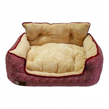 Лежак zoogurman престиж 55 х 50 х 25 см, розовый