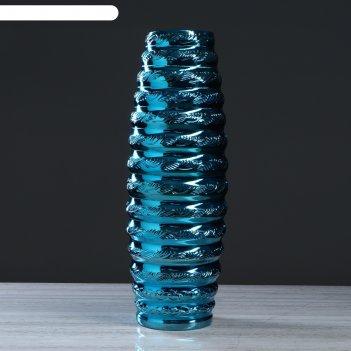 Ваза напольная волна синяя, 70 см