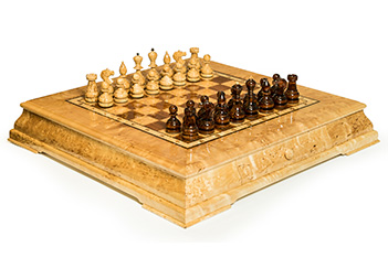 Шахматы средняя трапеция карельская береза