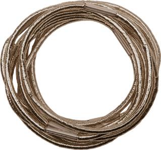 Резинки для волос коричневые блестящие midi (10 шт)