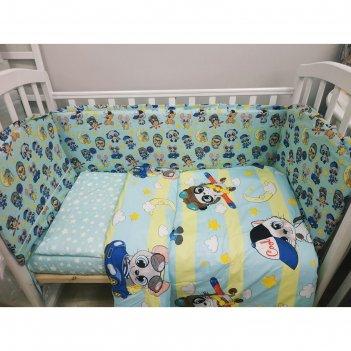 Комплект в кроватку 6пр. «малыши мальчики»