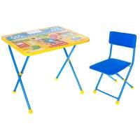 Набор детской мебели фиксики. азбука складной: стол, мягкий моющийся стул