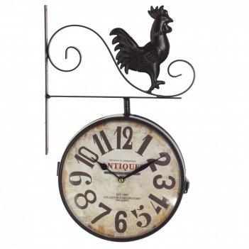 Часы настенные декоративные двусторонние, l28 w9 h44 см, (2хаа не прилаг.)