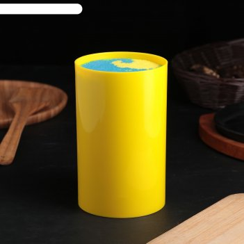 Подставка для ножей палитра, 18х11 см, цвет желтый