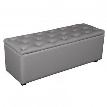 Банкетка монако-2 1210х420хн430 экокожа серый
