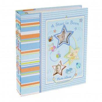 Фотоальбом магнитный 20 листов звёздочки/сердечки микс в коробке 26х24,5х5