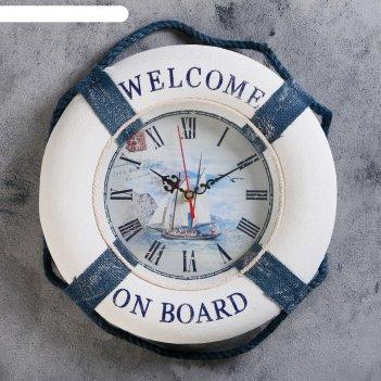 Часы настенные добро пожаловать на борт. корабль