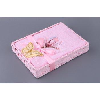 Полотенце магнолия 50*90 см.100% х/б розовое (ко...