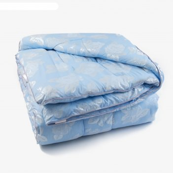 Одеяло лебяжий пух 175х205 см, 300г/м2, чехол глоссатин стеганный