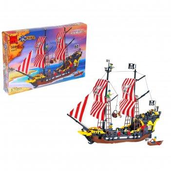 Конструктор пираты пиратский корабль, 870 деталей