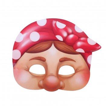 Маска карнавальная бабка