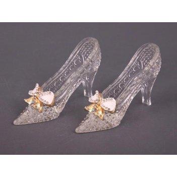 Декоративные хрустальные туфельки из 2 шт. длина=1...