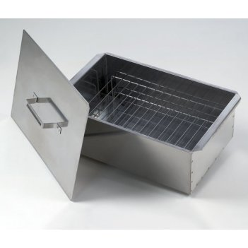 Коптильня двухъярусная малая 420х270х175 (сталь 0,8мм)