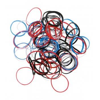 Резинки для волос цветные, силикон, mini (100 шт)