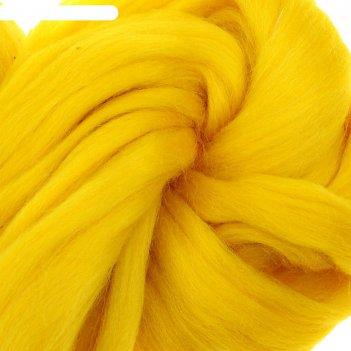 Шерсть для валяния полутонкая (0591, желтый)