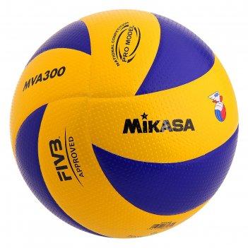 Мяч волейбольный mikasa mva300, р.5, сине-желтый
