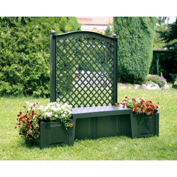 Садовая скамейка копенгаген, зеленая
