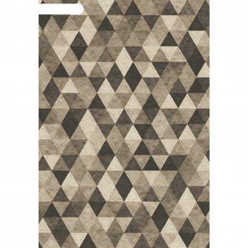 Ковёр хит-сет пп matrix d578, 1,6*2,3 м, прямоугольный, gray-brown