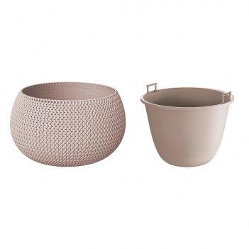 Кашпо для цветов splofy bowl dksp370-7529u мокко 2 предмета 9л