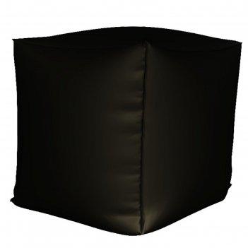Пуфик куб мини, ткань нейлон, цвет черный