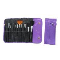 Набор для макияжа 12 предметов, в футляре на кнопке, цвет фиолетовый