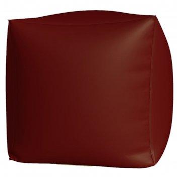 Пуфик куб макси, ткань нейлон, цвет бордовый