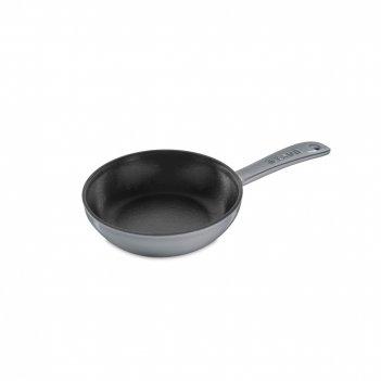Сковорода , диаметр: 16 см, материал: чугун, цвет: серый, staub, франция,
