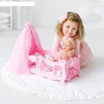 Кроватка для кукол  с постельным бельем и балдахином (коллекция diamond pr