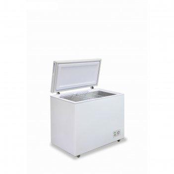 Морозильный ларь бирюса 305kx, 285 л, 2 корзины, глухая крышка, белый