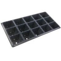 Рассадник 28х54 см, 15 стаканчиков, черный