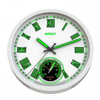 Настенные часы - метеостанция rst 77727