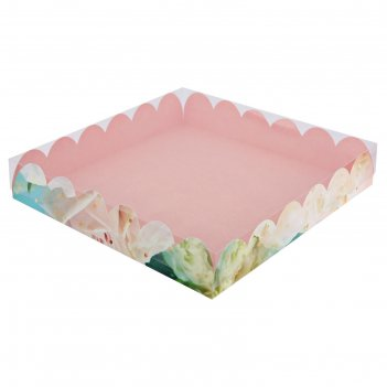 Коробка подарочная с pvc крышкой «прекрасные грезы», 35 x 35 x 6 см