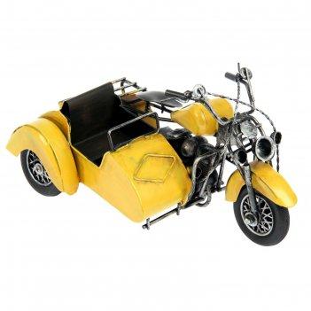 Сувенир мотоцикл с коляской, микс
