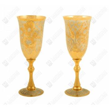 Набор винный романтика ( 2 фужера ) златоуст