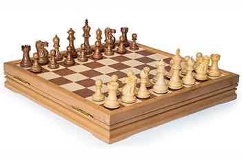 Rtc-3501 шахматы и шашки классические средние деревянные утяжеленные