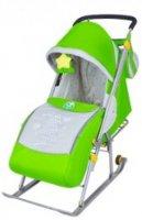 Детские санки-коляска ника детям 4 (2015) (зеленый)