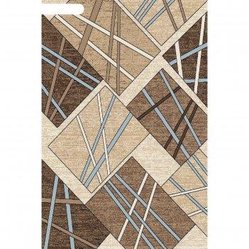 Ковёр бцф пп sierra d487, 2x3 м, прямоугольный, beige-brown