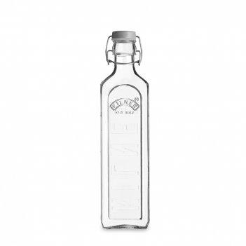 Бутылка квадратная для масла и уксуса с мерным делением, объем: 1 л, матер