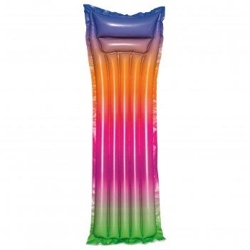 Матрас для плавания «радуга» 183х69 см