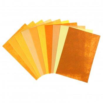 Фетр оттенки жёлтого 1 мм (набор 10 листов) формат а4