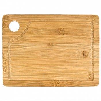 Доска разделочная 27,5*20,5*1см. (бамбук, обработанный) (упаковочная пленк