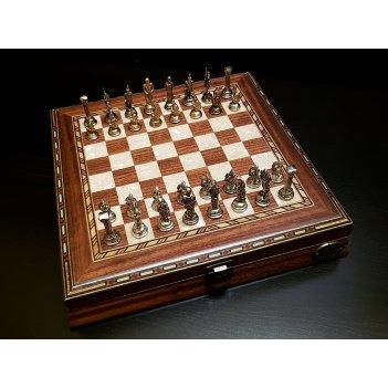 Шахматы илиада мини орех антик