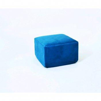 Пуф-модуль «тетрис», размер 50 x 50 см, синий, велюр