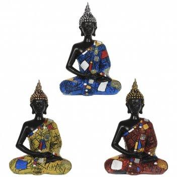 Фигурка декоративная будда, l13,5 w7 h21 см, 3в.