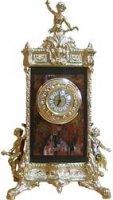 Каминные часы барокко, камень яшма, бронзовое литье арт.3095