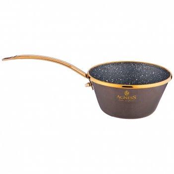 Ковш agness эмалированный с антипригар. мраморным покрытием, 12см/ 0,5л